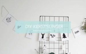 DIY kerstslinger zwart wit