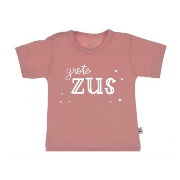 grote zus shirt roze