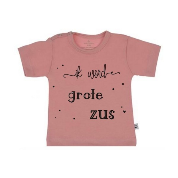 Ik word grote zus shirt roze