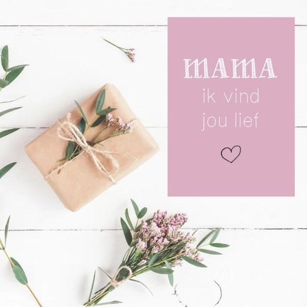 kaartje mama ik vind jou lief