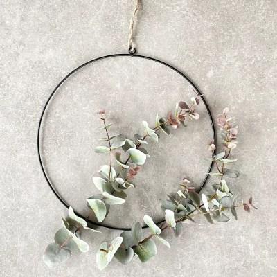 zwarte ring eucalyptus decoratie