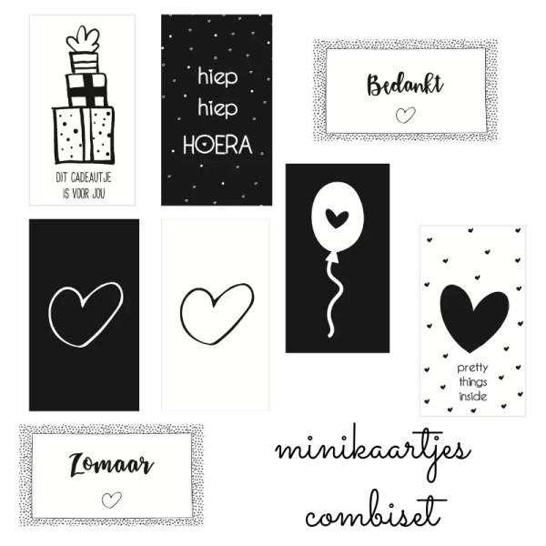 Combideal mini kaartjes