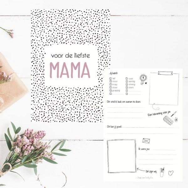 Invulkaart voor mama
