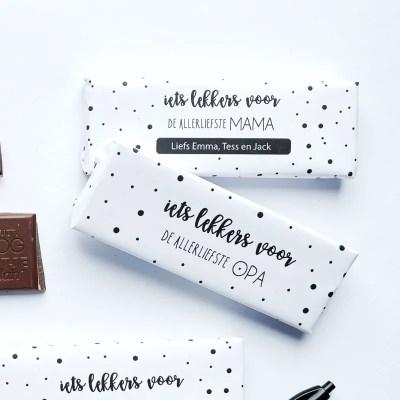 chocolade wikkel printable met naam
