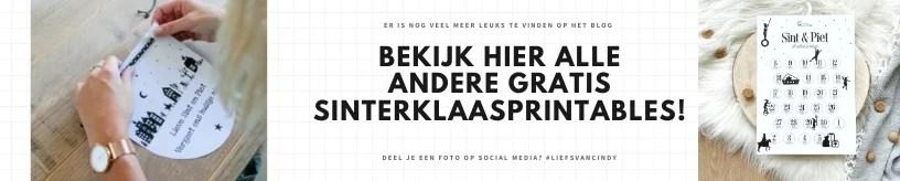 Sinterklaas printables gratis