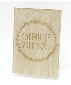 Cadeautje voor jou, Houten kaart, Beavers woodland, liefsvanlauren.nl