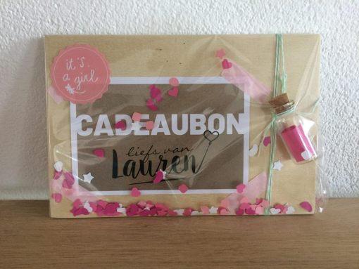 Cadeaubon van Liefs van Lauren Extra feestelijk ingepakt