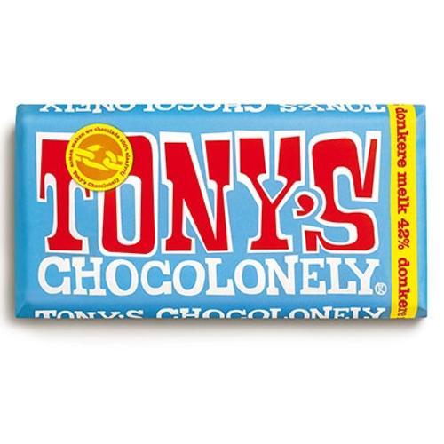 Tony's Chocolonely Donkere melk 42% Reep