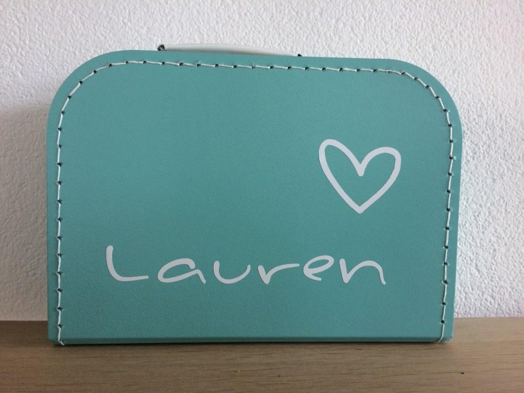 kinderkoffertje, Herinneringskoffertje Lauren -liefsvanlauren.nl