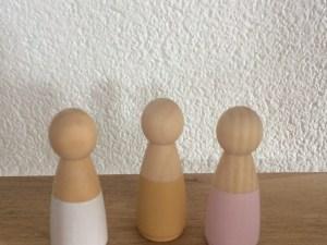 Houten poppetjes volwassen - vrouw - mama -liefsvanlauren.nl