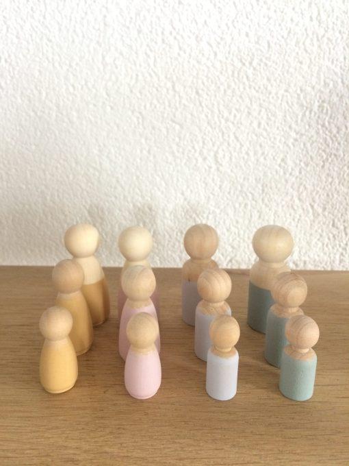 Houten poppetjes kinderen -liefsvanlauren.nl
