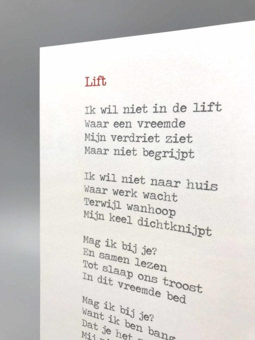 gedicht lift, lentezoet, gedicht ziekenhuis, ziekte kindje, liefsvanlauren.nl