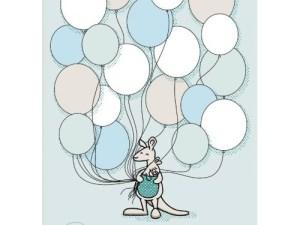 NICU poster ballonnen, groen, mintgroen, ziekenhuis, liefsvanlauren.nl