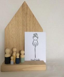 Houten poppetjes, pegdolls, houten huisje, irmadammeks, liefsvanlauren.nl