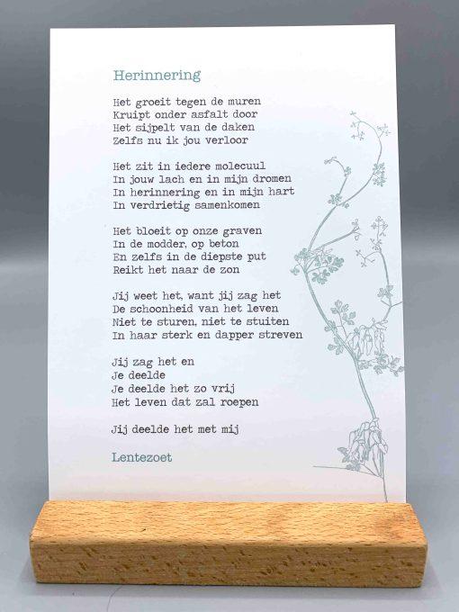 herinnering, gedicht lentezoet, afscheid nemen, rouw, liefsvanlauren.nl