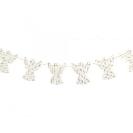 Slinger engeltjes wit met stip, garland angel white dot, liefsvanlauren.nl
