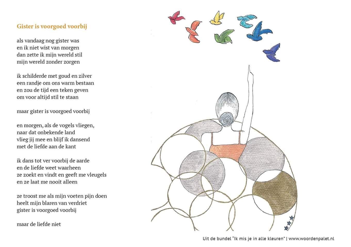 Verwonderend Ik mis je in alle kleuren, boek met gedichten over rouw QW-02