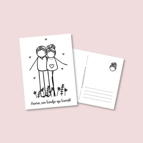 kaart in verwachting, blijde gebeurtenis, zwanger, irmadammekes,liefsvanlauren.nl