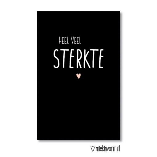 mini kaartje, heel veel sterkte, miekinvorm, troostcadeautje, liefsvanlauren.nl