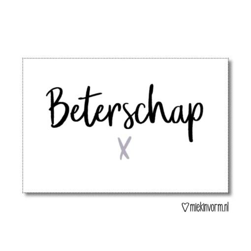 mini kaartje beterschap, miekinvorm, kadelabel, liefsvanlauren.nl