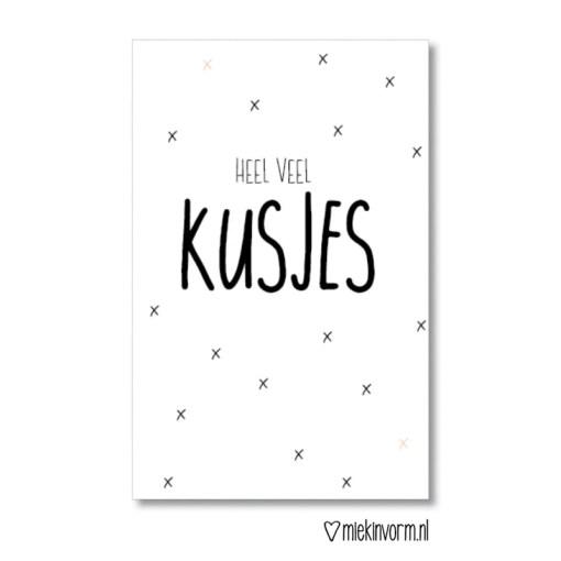 heel veel kusjes, mini kaartje, miekinvorm, liefsvanlauren.nl