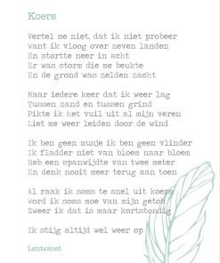 Koers gedicht, lentezoet, doorzettingsvermogen, falen, niet opgeven, liefsvanlauren.nl