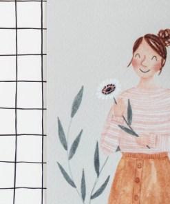 kaartje voor jou, carmens tekentafel, aquarel, zomaar kaartje, liefsvanlauren.nl