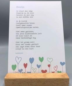 gedicht stoeltje, lentezoet, rouw in de klas, overlijden klasgenootje, liefsvanlauren.nl