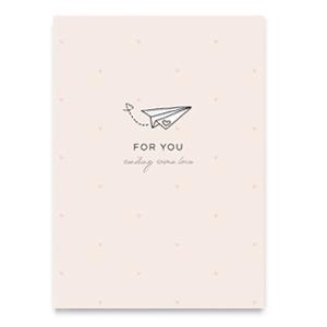 For you kaart, ansichtkaart, sending some love, liefsvanlauren.nl