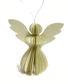 Engel wit met glitter, hanger engel, only natural, papieren engel, liefsvanlauren.nl