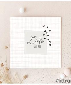 kaart liefs van mij, liefs met de post, kaartjes sturen, miekinvorm, liefsvanlauren.nl