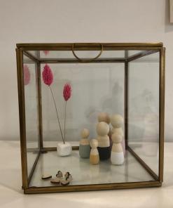 glazen vitrine bakje groot, glazen vitrine box, alternatieve stolp, pegdolls, liefsvanlauren.nl