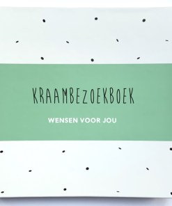 kraambezoek dagboek groen, huisje no56, invulboek kraamtijd, aandenken kraamtijd, liefsvanlauren.nl