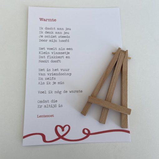 Brievenbus post warmte, gedicht warmte, cadeaupakket vriendin, liefsvanlauren.nl