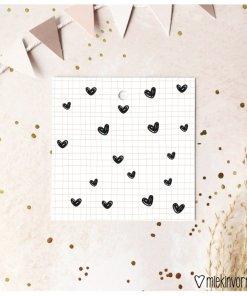 Mini cadeaulabel met hartjes, kado label, miekinvorm, liefsvanlauren.nl