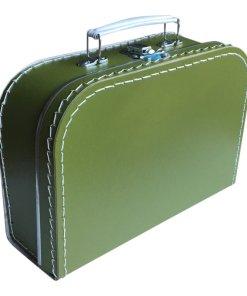 kinderkoffertje olijfgroen, groen koffertje, decoratie, kinder koffertje, liefsvanlauren.nl