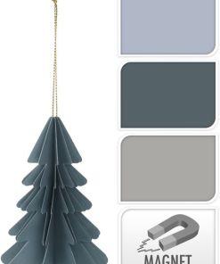 Papieren kerstboom, in stolp, kerstboom met magneet, herbruikbare kerstboom, liefsvanlauren.nl