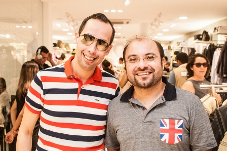 35 - Rodrigo Loureiro e George Azevedo na inauguracao da Cattan Natal. Foto Alexandre Lago