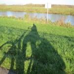 fietsen,selfie,Friesland,dankbaar