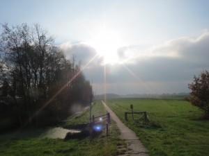 fietsen,november,winterslaap,sloot,Friesland