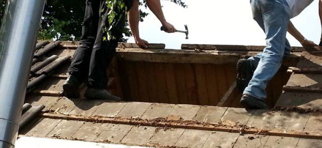 dak, gat,renovatie,tuinhuis,2015