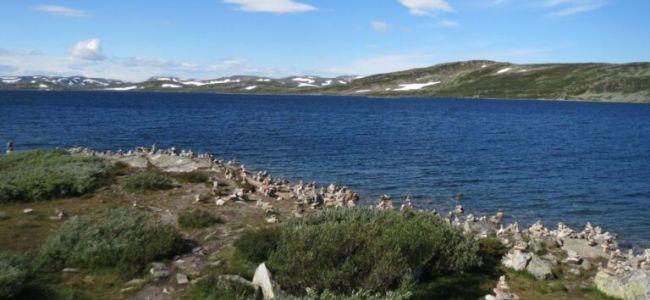 Noorwegen,Hardangervidda,sneeuw,2015,zon