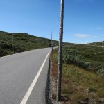 Noorwegen,Hardangervidda,sneeuwpalen,zon,imposant