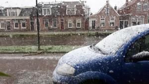 sneeuw,Friesland,onstuimig weer,storm,zon,januari, 2016