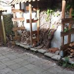 houtjes,leeg houthok,nieuwe voorraad,kou,april,2016