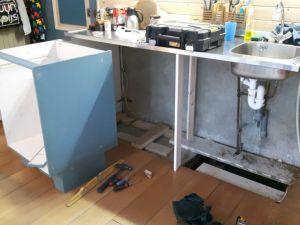 nieuw keukenblok met afwasmachine