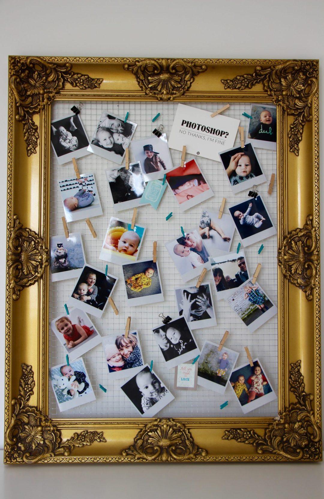 DIY Moederdagcadeau zelfgemaakte fotokader met polaroid