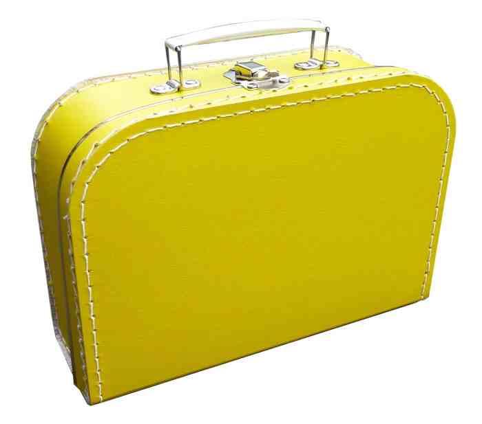 Koffer geel
