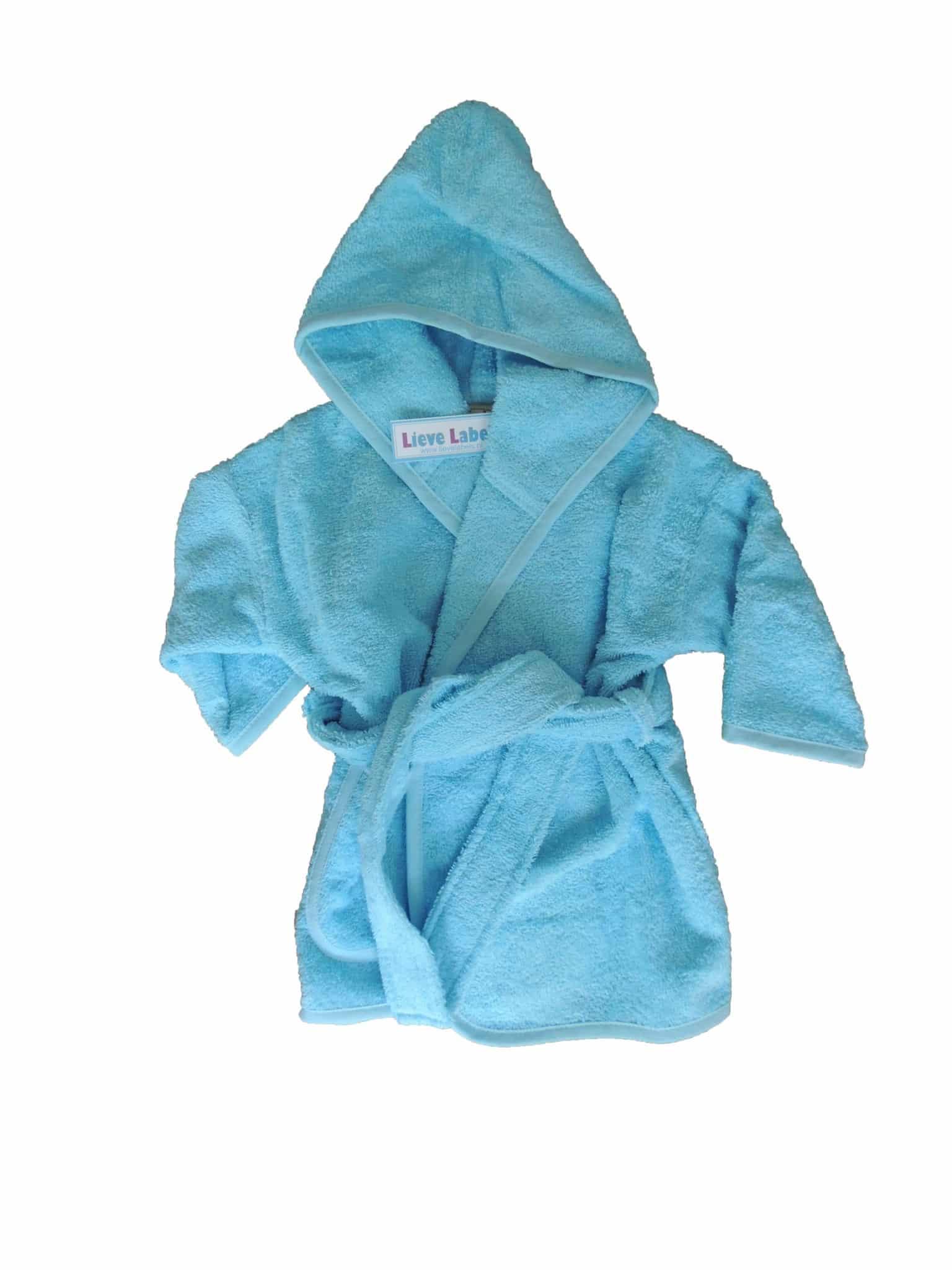 Badjas babyblauw