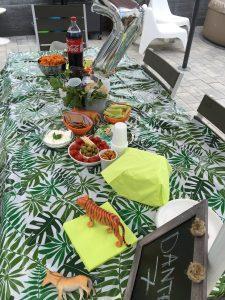 Safari feestje tafelversiering